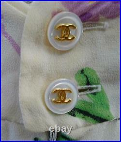 SALE! Chanel Vintage Line Pansy Logo Full Slip Dress 97P 36 No. 7221