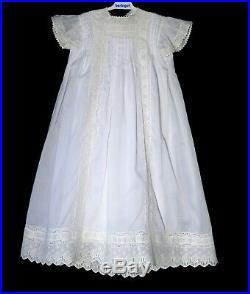 SALE! Vintage Heirloom Girl's Christening Gown Baptism Dress & Slip 6 Months New
