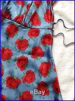 SILK Evening SLIP DRESS, Vintage BETSEY Johnson, NEW, 2, Old School Hollywood