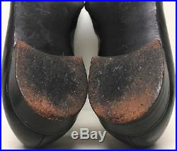 Saks Fifth Avenue Vintage Men's 12 Black Leather Formal Smoking Loafer Slip On