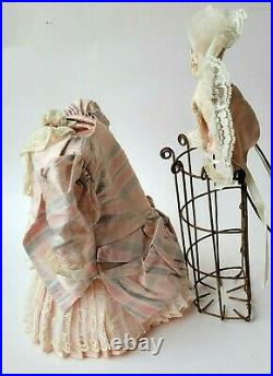 Silk 8Dress &Hat +Slip for Antique Bisque 12-13Doll French Style Lace Trim Lot