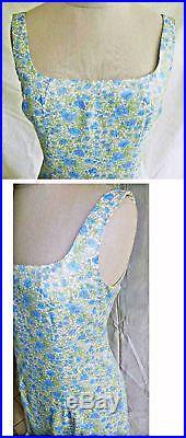 Slip Dress Nanette Lepore Grunge NOS Deadstock Floral Print Sexy Lingerie 8P