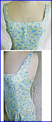 Slip Dress Nanette Lepore NOS Deadstock Sheath Floral Print Sexy Lingerie 8P