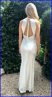 Slip dress vintage gorgeous silky gown, Open back dress, excellent condition