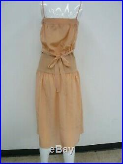 Sonya Rykiel Vintage 80s Salmon Pink Silk & Knit Slip Dress & Long Jacket Size S