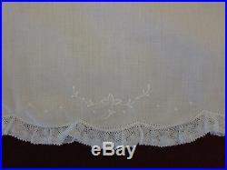 Spectacular Vtg Feltman Bros White Lace Slip Dress 3M Girls