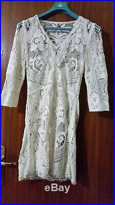 Spell & the Gypsy Designs Vintage Woodstock Mini Dress M size with slip
