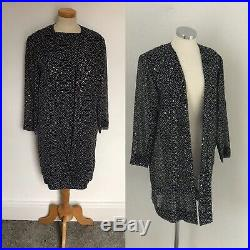 Stunning 1980s Silk Slip Dress & Duster Jacques Azagury Unworn Classic Chic 14