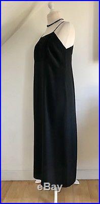 Stunning 20s Art Deco Sheath Dress Black Silk Vintage 1920s Lace Cocktail Slip