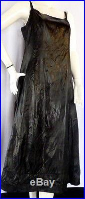 Stunnning 1930s FRENCH EVENING DRESS & SLIP LARGE