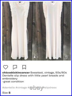 Sweet Vintage Slip Dress With Pearls