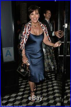 THEORY Blue Silk Dress Satin Slip Dress SIENNA MILLER size 10 NEW NWT $375