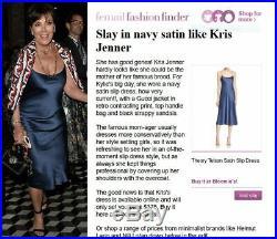 THEORY Silk Dress BLUE Kardashian Party Slip Dress sz 8 NEW NWT $375