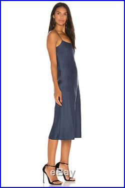 THEORY Silk Dress BLUE Kris Kardashian Jenner Party Slip Dress sz 10 NWT $375