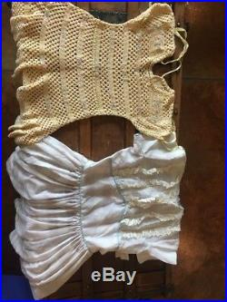 TWINS! GIRL BOY HUGE LOT VINTAGE BABY CLOTHES Dresses Slips Pinafores Pjs Shoes