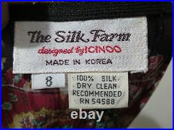 The Silk Farm by Icinoo vintage 70's paper thin pleated dress and slip