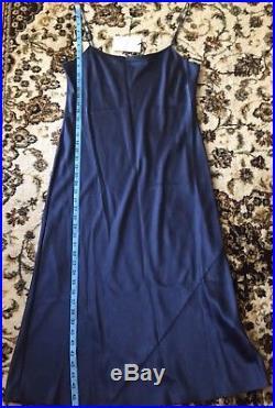 Theory Telson 100%Silk Satin Slip Dress Vintage Dark Brisk(NAVY) Sz 10 NWT $375+