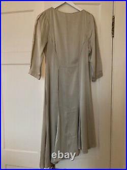 Thierry mugler Paris Vintage Silky Slip Dress Size FR 38 Champange