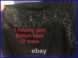 Trashy Diva silk bohemian dress size small vintage 1920 beadwork shell and slip