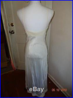 True Vintage 1930's eyelet circle white dress with full length biased cut slip