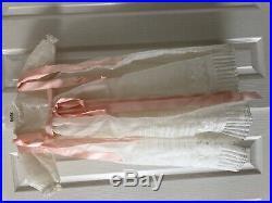 Unisex baptism dress with slip for newborn