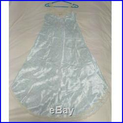Unused Authentic Christian Dior Vintage Sleepwear Slip Dress Light Blue Size M