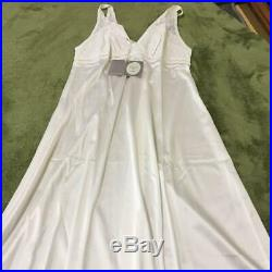 Unused Authentic Christian Dior Vintage Sleepwear Slip Dress White Size L