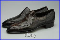 Unworn Stetson 10c Brown Alligator Slip On Loafers Venetian Yuma Vintage