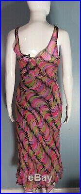 Unworn with Tags Betsey Johnson New York Silk Slip Dress 90s Petite XS 0 2 4