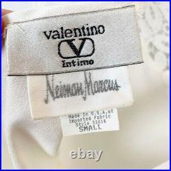 VALENTINO Vintage Lace Slip Dress Satin Ivory Maxi