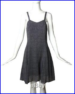 VERSUS, GIANNI VERSACE-1990s Rayon Dot Slip Dress, Size-6