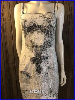 VERY RARE Vintage 90s couture Jean Colonna Paper Dress Slip Dress Womens XS/SM