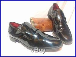 VINTAGE Edwin Clapp Formal Slip On Dress Shoe in Black Patent Leather