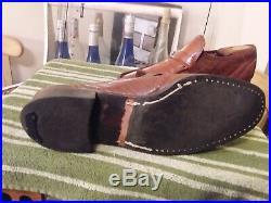 VINTAGE FENDI Men's Moc-Toe Slip-On Formal Shoes Dress Loafers Brown Sz 11D