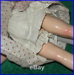 VINTAGE MADAME ALEXANDER McGUFFEY ANA 14 TALL DRESS HAT SLIP SOCK SHOES