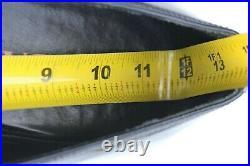 VINTAGE MEN'S PRADA BLACK LEATHER SLIP ON DRESS SHOE SIZE 9.5 With STORAGE BAG