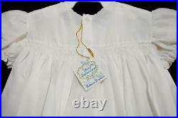 VINTAGE NWT'S FELTMAN BROTHERS GIRLS NEWBORN CHRISTENING GOWN WithSLIP 70'sRARE
