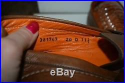 VINTAGE Santoni Brown Lazzard Taupe Slip On Loafer Casual Dress Shoe Mens 11.5 B