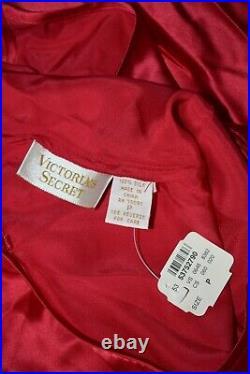 VINTAGE VICTORIA SECRET SLIP SILK DRESS LIPSTICK RED & Panty M/P 100% Silk NWT