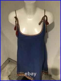 VINTAGE seventies BAZAAR Sundress /Slip Dress UK 12-14