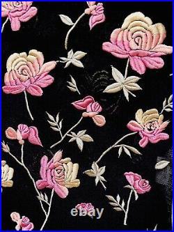 VIVIENNE TAM 90s Vintage Floral Embroidered Mesh Slip Dress S