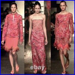 VIVIENNE TAM 90s Vintage Tropical Leaf Print Mesh Slip Dress M