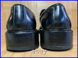 VNTG Gucci Platform Black Leather Men's Shoes Slip On MOC Made In Italy Sz 10