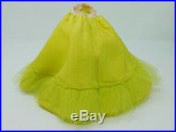 VNTG Madame Alexander Cissy doll dress #2121 Garden Party Green Floral, Slip, tag