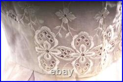 VTG 1950s Strapless Prom Cocktail Party Dress Size S Lavender Slip Embroidered