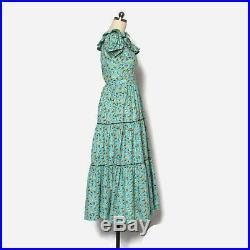VTG 40s Novelty Print DRESS 1940s Farmyard Farm Print Cotton Day Dress with Slip