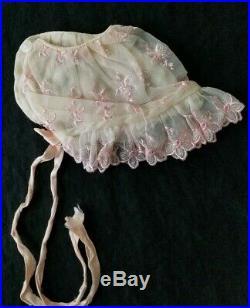 VTG 50's PINK SHEER NYLON BABY DRESS RUFFLE PANTIES SLIP BOOTIES NOS NEW IN BOX