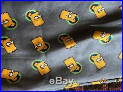 VTG 90's 00s Y2K Bart Simpson Simpsons Bootleg Grey Slip Dress Nightie sz S /M