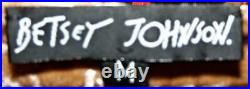 VTG 90s Betsey Johnson Dress CRUSHED VELVET Gold Skater Evening Party M 6 8 10