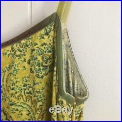 VTG 90s Laundry by Shelli Segal Mod Retro Paisley Slip Dress Spaghetti Straps 2